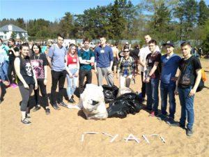 Студенты ГУАП приняли участие в международной акции «Чистый берег — 2018»